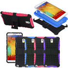 Dual Layer Rugged Hybrid Grip Hard Kick-Stand Case For Samsung Galaxy Note 3 III