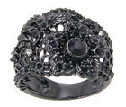 Disney Couture Snow White Black Flower Lace Ring