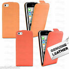 REAL GENUINE LEATHER FLIP CASE POUCH COVER FOR NEW APPLE IPHONE 5C