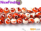 16mm 18mm 20mm 22mm round red natural sea shell beads strand 15'' jewelry making