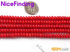 "Hot Rondelle Pink Red White Coral Stone Beads For Jewelry Making 15""4x6mm 3x5mm"