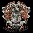 GARAGE BUILT CUSTOM VTWIN EAGLE BIKER T SHIRT M TO 6X W/FREE HARLEY DECAL