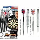 Harrows Darts Eric Bristow Silver Arrows Steeltip 18-26g + Hard Darts Case