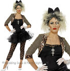 12-22 Wild Child Costume 80s 90s Disco Punk Ladies Fancy Dress Party Outfit