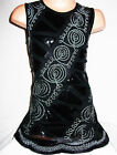 GIRLS 60s BLACK EMBROIDERED BRAID SEQUIN EVENING SHIFT PARTY DRESS