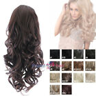 Big volume glam curl instant hairpiece Hair Fall Half Wig Various colours
