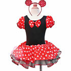 NWT Xmas Polka Dots Minnie Mouse Baby Girls Fancy Party Costume Dress Up SZ 2-10