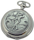 GOLFERS QUARTZ HUNTER POCKET WATCH A E Williams Mens New Golf Gift CAN ENGRAVE