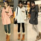 Women Hoodie Jumper Pullover Coat Hooded Loose Long Casual Sweatshirt Top Jacket
