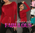NEW SEXY WOMEN'S JUMPER 6-8-10 LADIES HOT CASUAL SWEATER PARTY STRETCH KNIT TOP