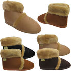 Mens Warm Winter Coolers Faux Suede Fur Lined Ankle Boots Slippers Shoes Sizes
