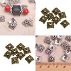 100pcs Retro Silver/Bronze Tone Finding Diy Bead Caps 8mm Wholesale U Pick