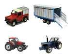BRITAINS MODEL FARMYARD TRACTORS AND MACHINERY 1:32 SCALE DIE CAST FARM TOYS