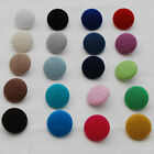 Fabric Covered Buttons - 10 Count - Handmade - 14mm / 19mm / 28mm - 20 Colours