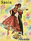 Couple Flamenco Dance Spain Europe Tourism Travel Vintage Poster Repro FREE S/H