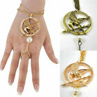 1PC Hunger Games Metal Mockingbird Badge Pendant Key Chain Brooch Pin Bracelets