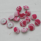 Lace and Fabric Covered Buttons - 10 Count - Handmade - 19mm