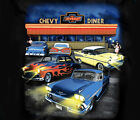 GM / Chevrolet Lost in the 50s Diner Impala Bel-Air BLACK Adult T-shirt