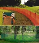 Pocket Garden Fence 4' x 100' Green/Orange Snow Sports Baseball Outfield Fence