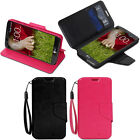 For LG G2 (D800/D801)-PREMIUM PU Leather Wallet Case Hard Flip Cover Stand Skin