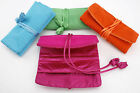 Chinese Style Effect Satin Jewellery Roll. Turquoise/Pink/Green/Orange.Gift Idea