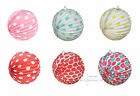 Accordion PLEATED Paper LANTERNS 24cm PK 6 Wedding PARTY DECORATIONS Baby Shower