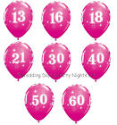 """10 Fuchsia Hot Pink Helium / Air Balloons Happy Birthday Party Decorations 11"""""""
