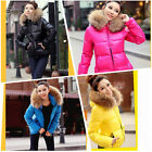Women's Winter Parka Coat Warm Hoodie Down Faux Fur Collar Outwear Zipper jacket