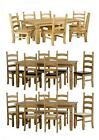 New Corona 6` Mexican Pine Cream Expresso Brown Kitchen Dining Table Chair Sets