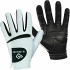 Bionic Mens RelaxGrip Black Palm Orthopedic Golf Glove - White - MLH
