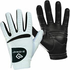 Bionic Mens RelaxGrip Black Palm Orthopedic Leather Golf Gloves - White - LH