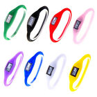 New Hot Digital Silicone Rubber Jelly Negative Ion Sports Bracelet Watch