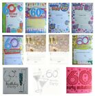 60th BIRTHDAY (Age 60) Party INVITATIONS & Envelopes {Fixed £1 p&p}(PI)