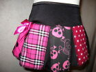 Girls  Black,Pink,white Stars,Tartan,Skulls,Spots Cheerleader Skirt,rock,Gift,