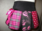 New Girls Black Pink white Stars Tartan Skulls Spots Skirt rock Party Goth Gift