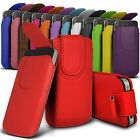 Magnetic PU Leather Pull tab Pouch Skin Case Fits For Most Nokia Mobile Phones