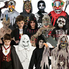 Child Boys Halloween Fancy Dress Costume New Horror Outfit Kids Scary Ghoul Mask