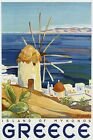 Island of Mykonos Greece Ocean Sea Travel Tourism Vintage Poster Repro FREE S/H