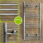 Curved or Flat Chrome Steel Heated Bathroom Kitchen Towel Rail Rad Radiator