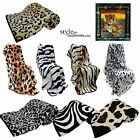 LARGE Faux Fur Mink Animal Skins Blanket Sofa / Bed Throw in Double & King Size