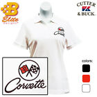 C2 Corvette Embroidered Ladies Cutter & Buck Ace Polo Shirt