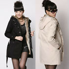 Lady Womens Winter Warm Thicken Coat Hood Parka Overcoat Long Jacket Outwear O