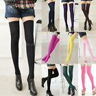 Womens Girls Long Socks Over Knee Thigh High Stockings
