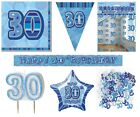 30th Birthday/Age 30 - BLUE PARTY ITEMS Decorations Tableware - Large Range