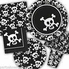 Black White Pirate Skulls Crossbones Tableware Decorations One Listing PS