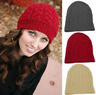 Ladies Crochet Winter Hat Womens Knitted Warm Beanie Cap One Size