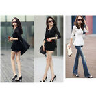 Womens Ladies Lace Peplum Tunic Tops Long Sleeve Blouse Skater T-Shirt Shirt