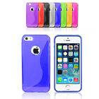 Jelly S Shape Glossy Transparent Silicone Soft Case Cover For Apple iPhone 5S 5