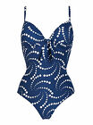 LEPEL Chica Spot Underwired Padded Cup Navy Swimsuit New 32 34 36 38 B - G
