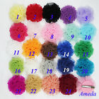 """Baby Girls Lovely 2.5"""" Chiffon Rosette Rose Colorful Hair Clip Accessories"""